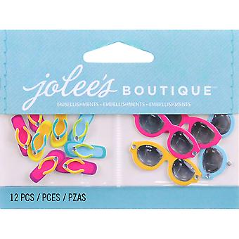 Jolee's By You Large Dimensional Embellishment Flip Flops And Sunglasses E5000457