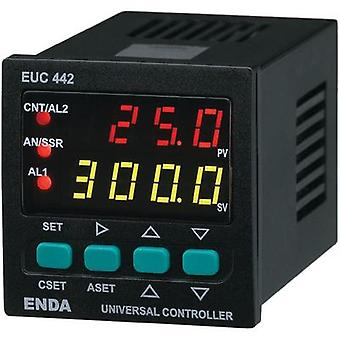 PID Temperature controller Enda EUC442 J, K, T, S, R, Pt100 -200 up to +1600 °C 2 A relay, SSR, Analogue current (L x W
