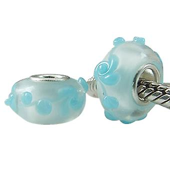 Sterling silver murano glass charm SG5361
