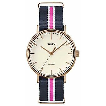 Timex Womans Weekender Fairfax Navy Pink Strap TW2P91500 Watch