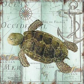 Печать плаката античный La Mer IV Tre Sorelle Студиос