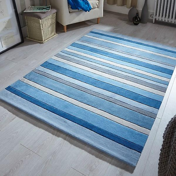 Rugs - Funky Wool - Dusky Blue Stripes