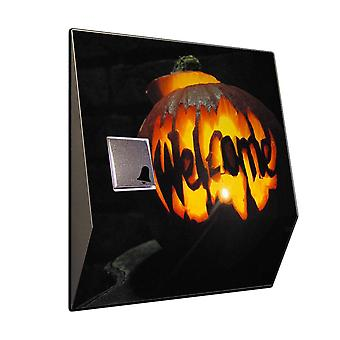 Wireless ringtones Halloween Pumpkin stainless steel Bell front door bell with radio