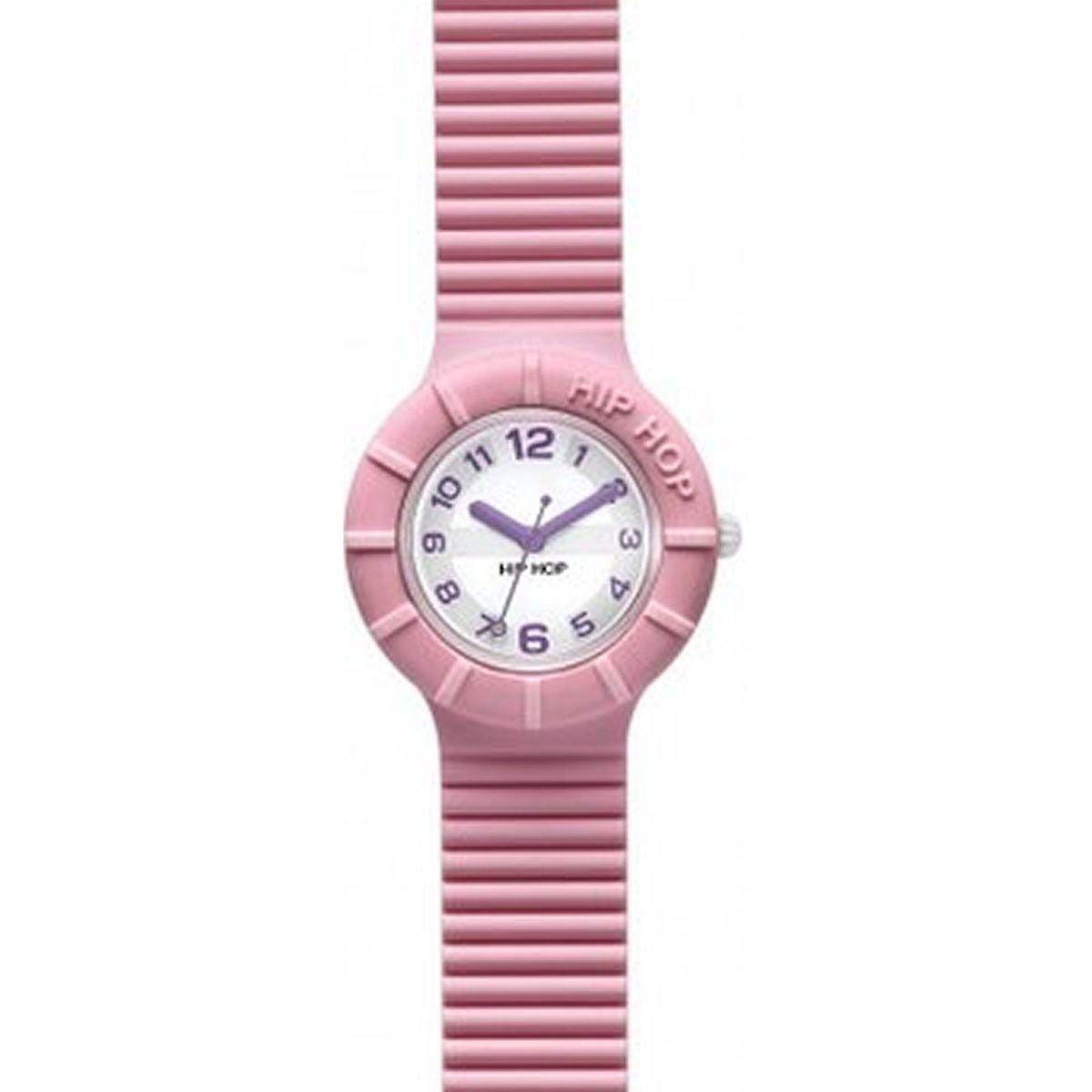 Hip hop watch wrist watch silicone watch of numbers pink HWU0124