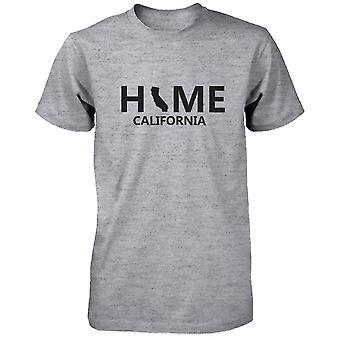 Camiseta Home CA estado gris hombres Tee de ciudad natal de California Estados Unidos