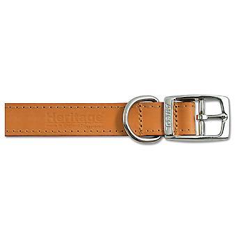 Heritage Leather Collar Tan 19mm X35-43cm Sz 4