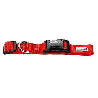 Doodlebone Bold Nylon Collar Red Large 25mm X 50-75cm