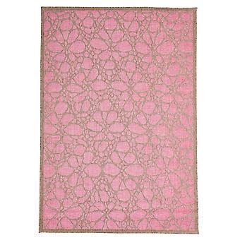Geometriske Fiore Pink marokkansk tæppe - Floorit