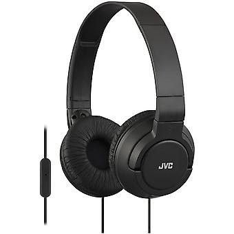 JVC Lightweight Headphones with Remote and Microphone for Apple Android (HASR185B)
