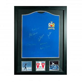 Manchester United 1968 European Cup Final Signed Shirt (Framed)