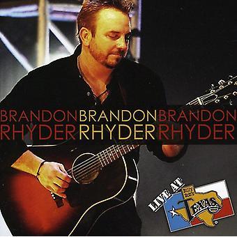Brandon Rhyder - Live på Billy Bob's Texas [CD] USA import