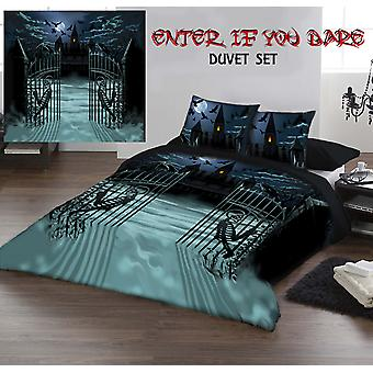 ENTER IF YOU DARE - Duvet & Pillowcases Covers Set UK King/US Queen