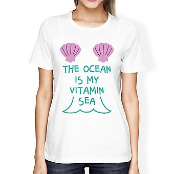 The Ocean Is My Vitamin Sea Cute Womens Lightweight Graphic Tshirt