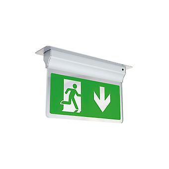 Ansell Eagle LED 2.5W Exit Sign Light 2.5W, Silver Grey