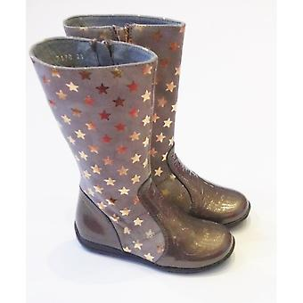 Ciao Girls Party Boots - Patent And Suede Gold Star Boot