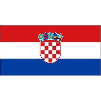 Croatian Flag 5ft x 3ft With Eyelets For Hanging