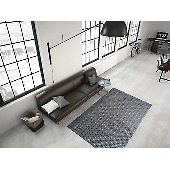 Modern flat pile rug hand-woven indoor outdoor suitable black ivory