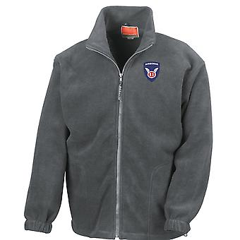 US Army 11 luftburna änglar broderad Logo - Full Zip Fleece