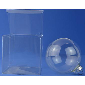 10 Acetate Square Box Presentation Boxes for Gifts or Baubles 12cm