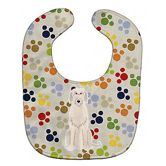 Carolines Treasures  BB5894BIB Pawprints Irish Wolfhound Baby Bib