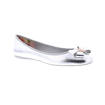 Ted Baker Immet 2 - Silver Pu Tumble Metallic (Man-Made) Womens Pumps