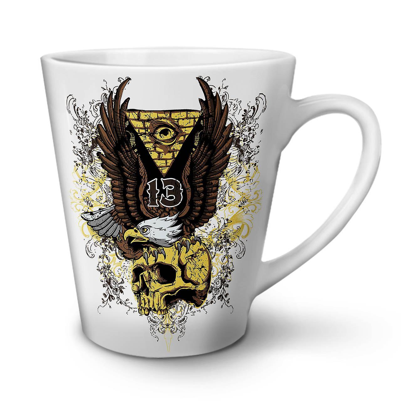 Mug Triangle Latte OzWellcoda Coffee Eagle White 12 Tea Skull New Ceramic rthQdCxs