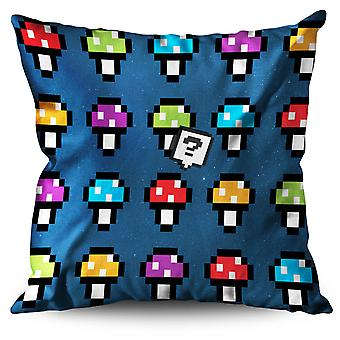 Shroom Funny Awesome Geek Linen Cushion Shroom Funny Awesome Geek | Wellcoda