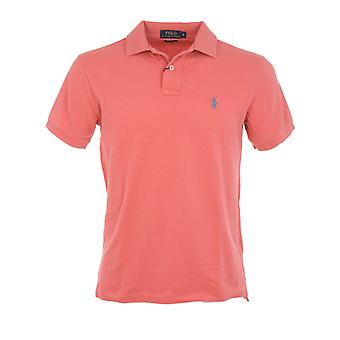 Ralph Lauren men's A12XZ7VYXY7VPXW7LX red cotton polo shirt