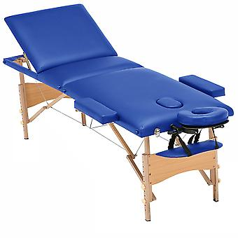 Luxor Elite Professional Oversized Portable Folding Massage Table w/Bonuses - Royal Blue