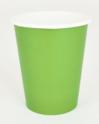 """Lime Green Paper Cups 9"""""""