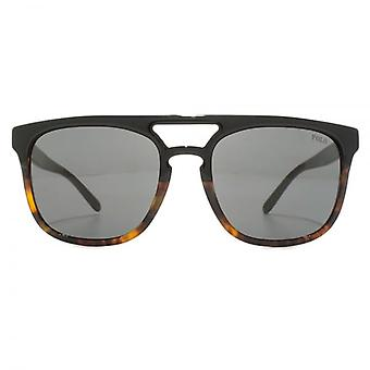 Polo Ralph Lauren Flat Top Double Bridge Sunglasses In Black Jerry Havana