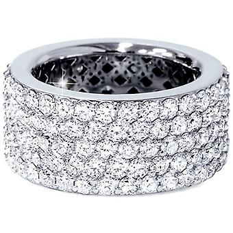 5 ct Pave Diamond Eternity Ring 14k White Gold