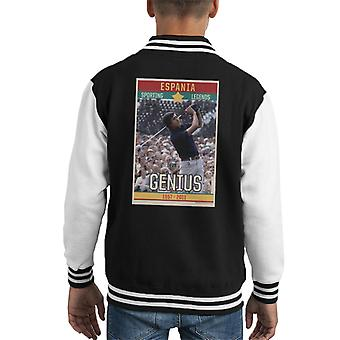 Sporting Legends Poster Espania Seve Ballesteros Genius British Open Golf 1972 Kid's Varsity Jacket