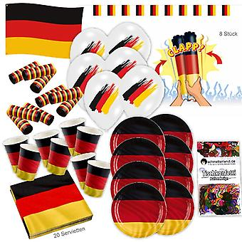 Germany Schland party set XL 56 8 guests football decoration party package