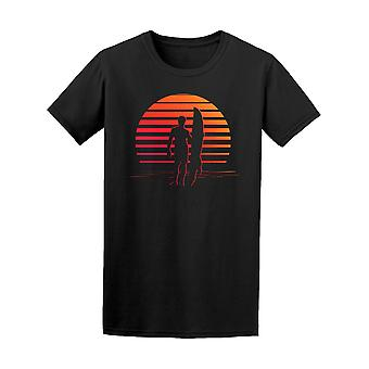 Black And Orange Stripes Surfer Tee Men's -Image by Shutterstock