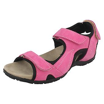 Ladies Easy B Strapped Sports Sandals Fennel 78517P - Fuchsia Leather - UK Size 12 2V - EU Size 45.5 - US Size 14