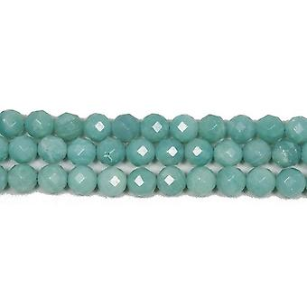 Strand 40+ Turquoise Amazonite 8mm Faceted Round Beads GS4778-3