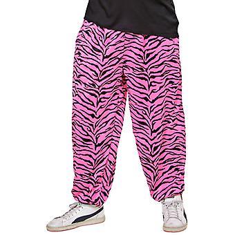 80er Jahre baggy-Hosen - (rosa Zebra)