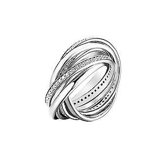 Joop women's ring silver zirconia embrace 7 PCs JPRG90681A