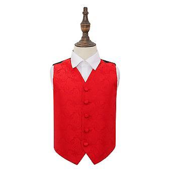 Rode Paisley bruiloft vest voor jongens