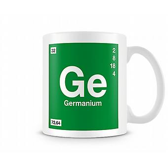 Element Symbol 032 Ge - Germanium Printed Mug