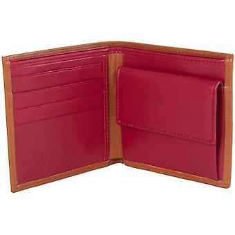 40 Colori Leather Wallet - Light Brown/Red
