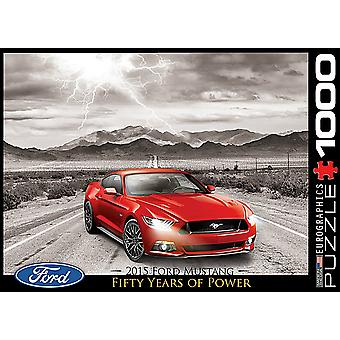 Ford Mustang Gt 200 X 150 Mm 1000 st pussel 680 X 490 Mm