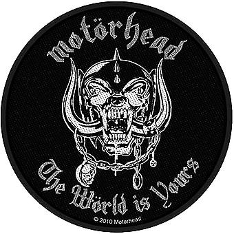 Motorhead The World Is Yours Round Sew-On Cloth Patch 90Mm Diameter
