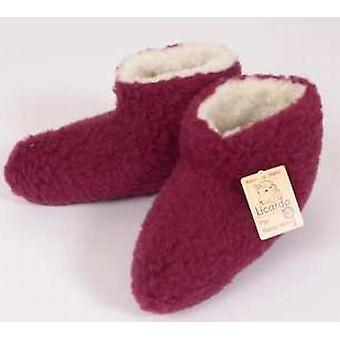 Bed shoes wool bordeaux 44/45