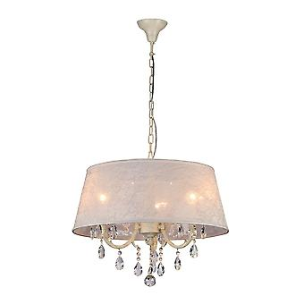 Maytoni verlichting Filomena elegante hanger, ivoor