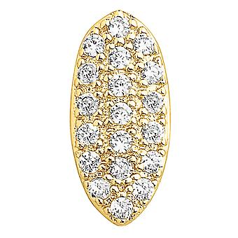 Single 14x17mm bling mold cubic zirconia Grill - gold tooth Cap