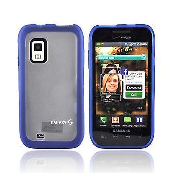 Verizon Dual Cover Case for Samsung Fascinate SCH-I500, Galaxy S (Blue/Clear) (B