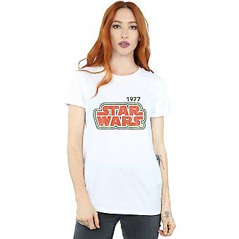Star Wars Women's Retro Outline Boyfriend Fit T-Shirt