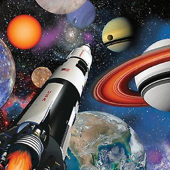 Weltraum Weltall Party Servietten 33x33 cm 16 Stück Astronautenparty Kindergeburtstag Deko